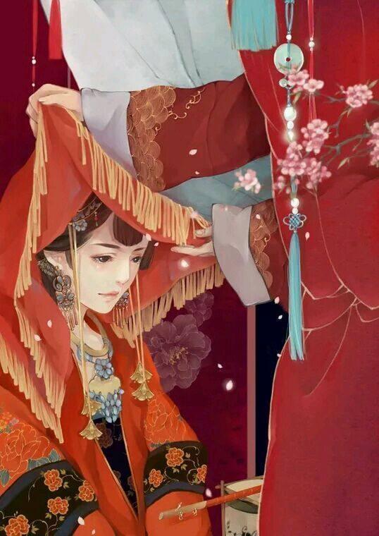 最美不过中国红,动漫中那些着一袭红嫁衣的新娘真心美