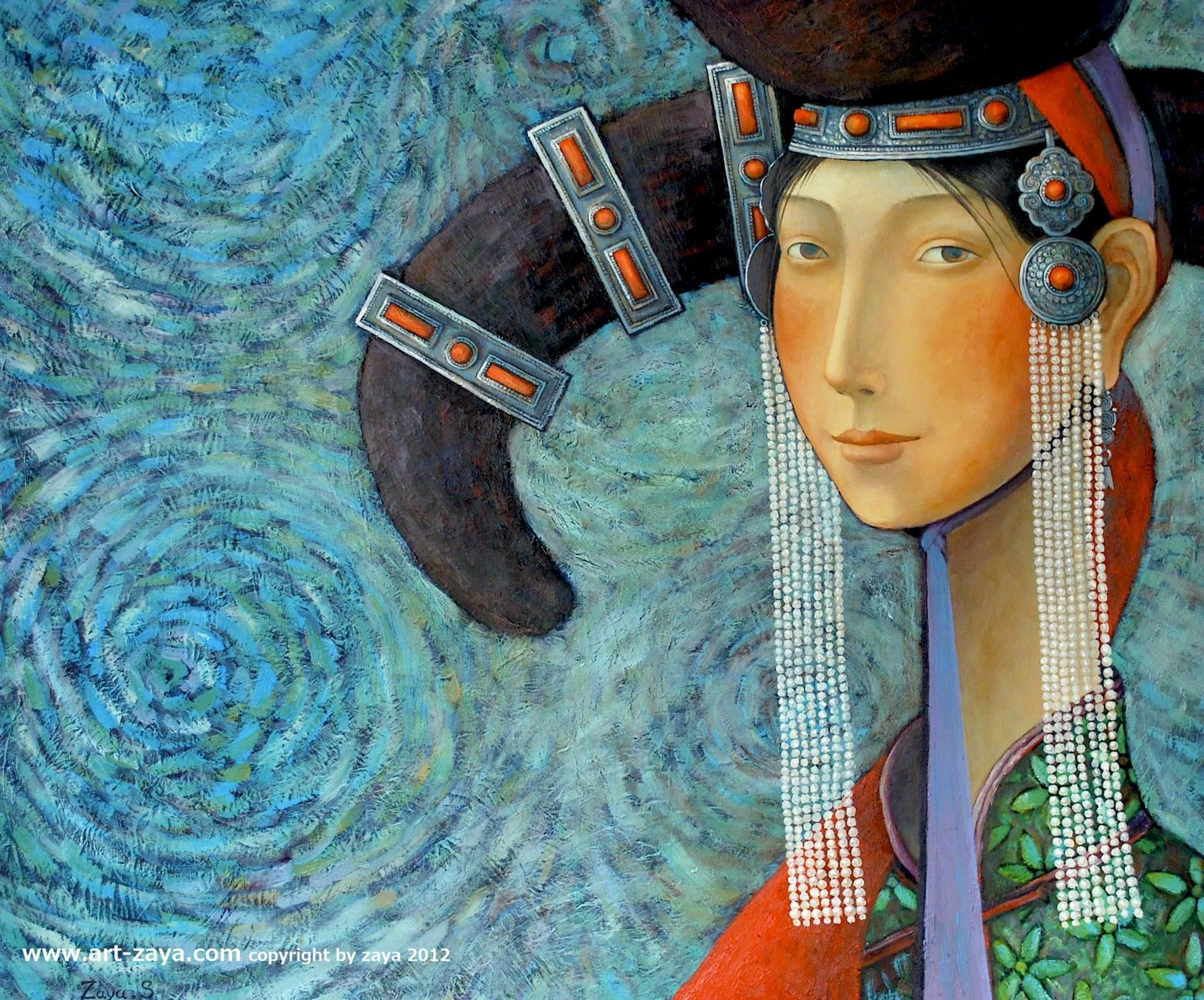 蒙古国青年画家 Zayasaikhan Sambuu 油画作品 | www.artzaya.com_新浪看点