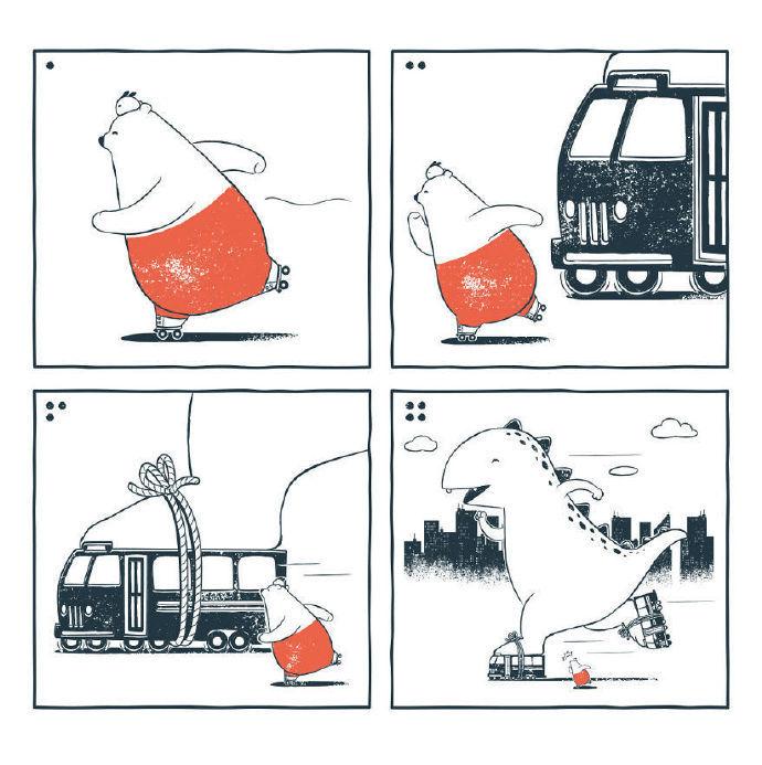 幽默风趣的四格漫画作品,来自tuandted黄瓶梅漫画图片