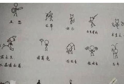 王者榮耀:小學生手繪眾英雄:有的成火柴人,有的媽都認