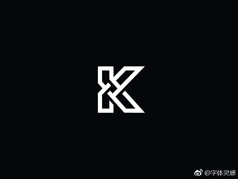 创意k字母logo设计图片