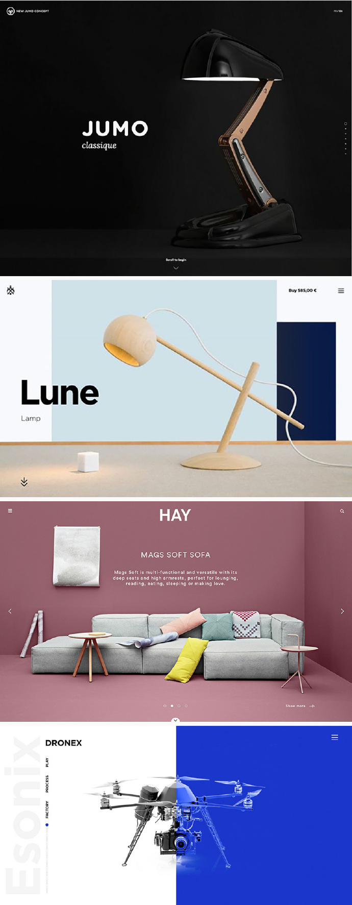 一组产品网页的banner展示,布局和配色排版设计都很简洁大气.图片