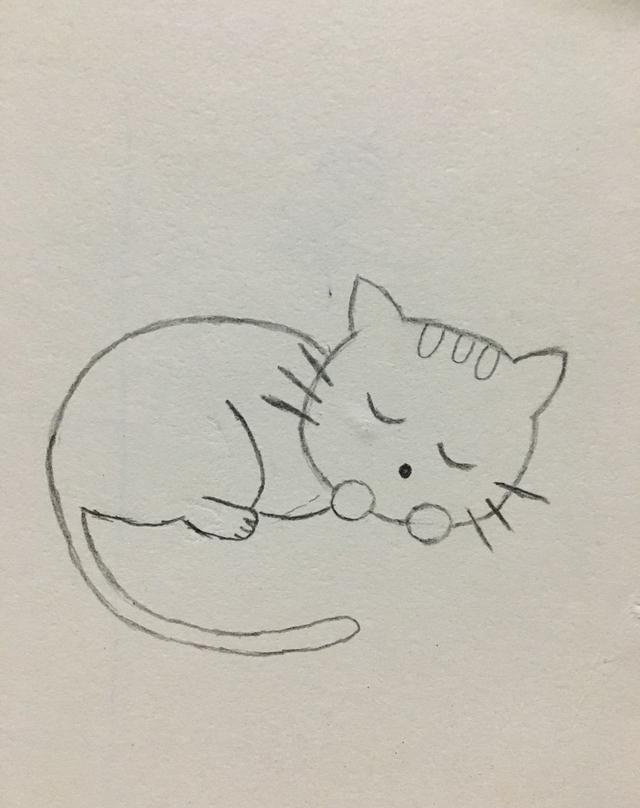 简笔画——可爱的小猫咪画法
