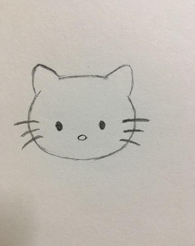 简笔画——hello kitty的画法