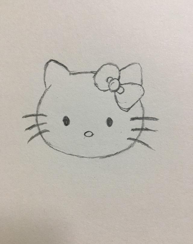 简笔画——hello kitty的画法