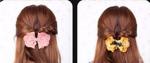 方法不对努力白费:韩式蝴蝶结公主发型步骤图解