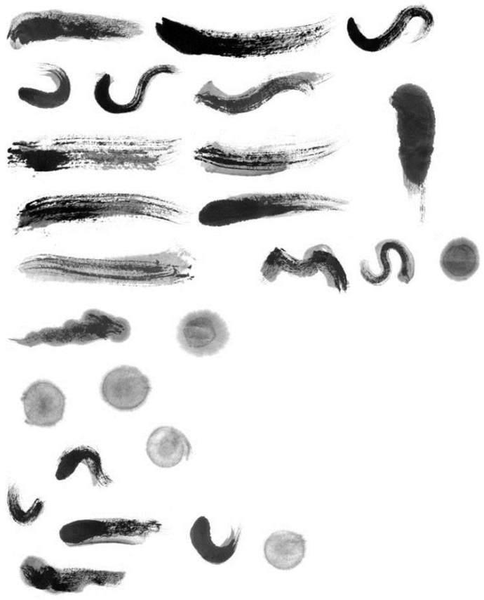 字体厨房尺度部首中国风线条笔触家具偏旁PS在笔刷的标志毛笔的v字体上应以图片