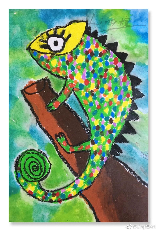 儿童创意美术画画 本次主题带孩子们认识了动物世界里图片