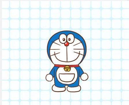 卡通机器猫的简笔画 哆啦a梦的画法图片步骤 儿童手工