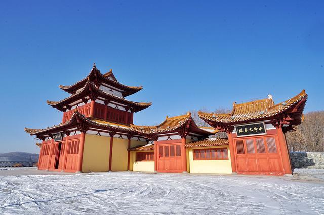 黑龙江省 牡丹江市 绥芬河 大光明寺 雪景