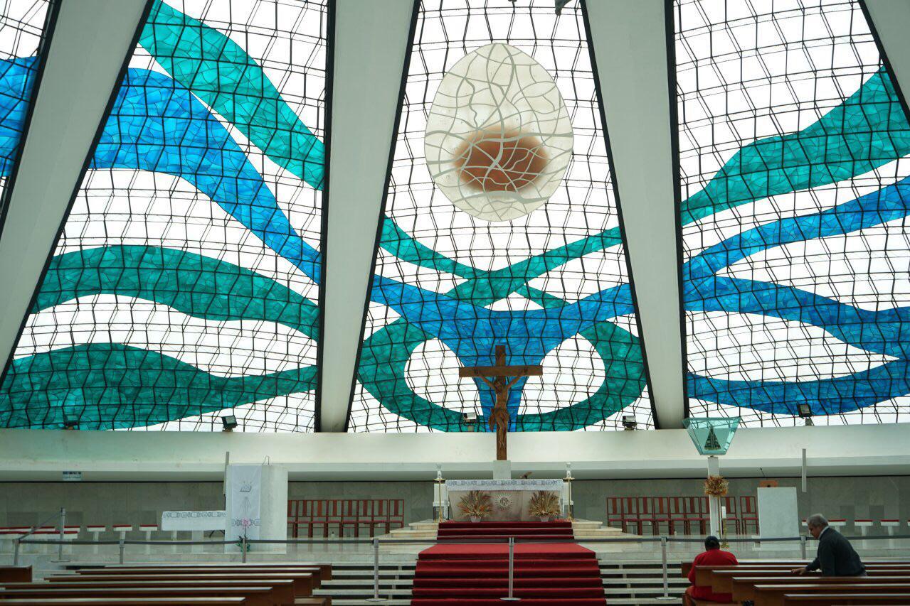游览 南美洲 巴西 巴西利亚天主教大教堂