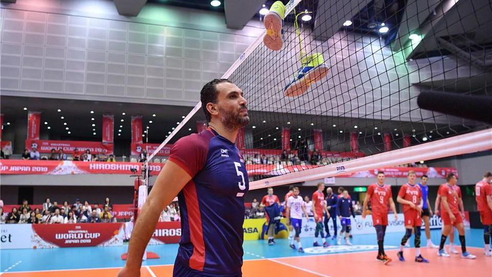 莫斯利!胡子泛白的39岁突尼斯老队长,2019男排世界杯精彩集锦!