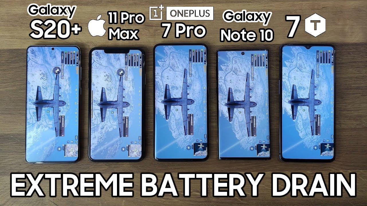 三星S20+与iPhone 11等5款旗舰手机电池续航对比测试