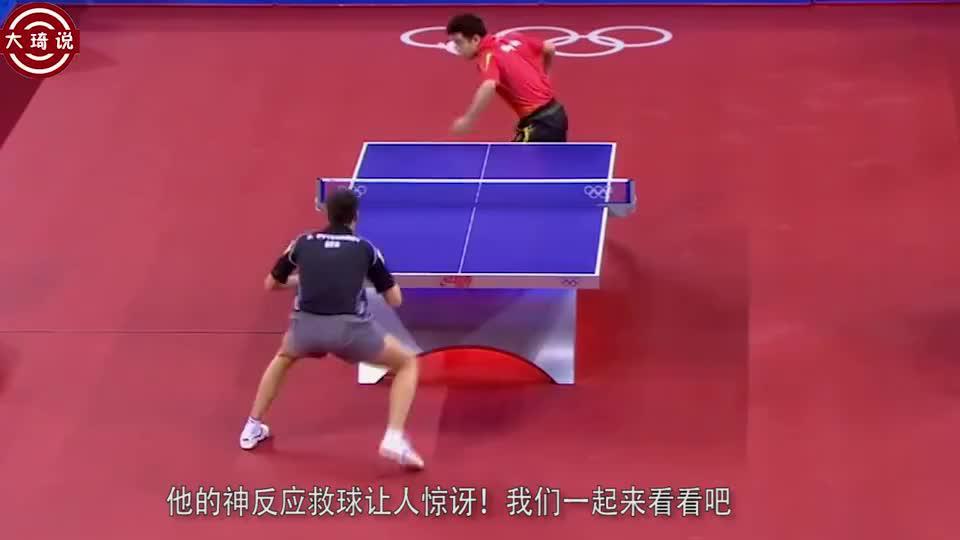 国乒王皓反应神速球迷认为接不到的球他瞬间反应打蒙对手