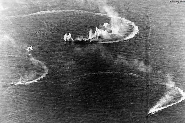 三万吨航母被当成诱饵 被美军命中7枚炸弹和7枚鱼雷沉没