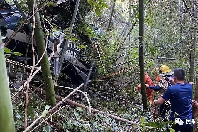 中瑞通航一架空客H125直升机在金华坠毁