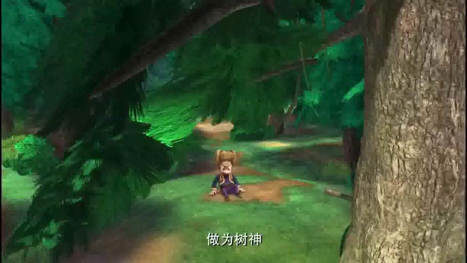 财迷光头强怎么会放过会说话的树,它开心还来不及呢!