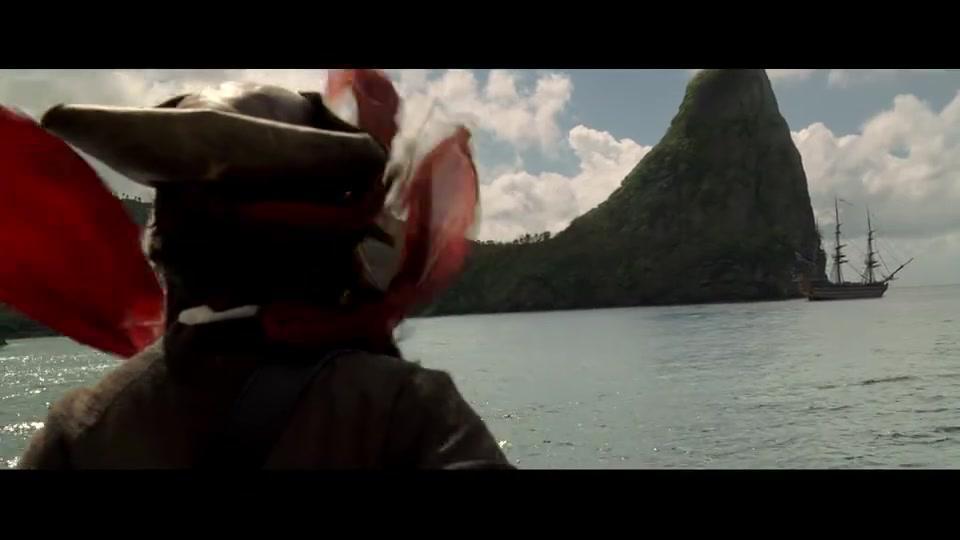 加勒比海盗1:杰克船长出场方式太帅了,经典场面