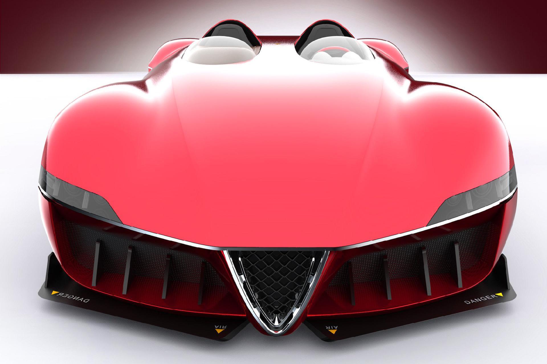 根据一级方程式赛车打造的阿尔法·罗密欧终极性能赛车设计图!