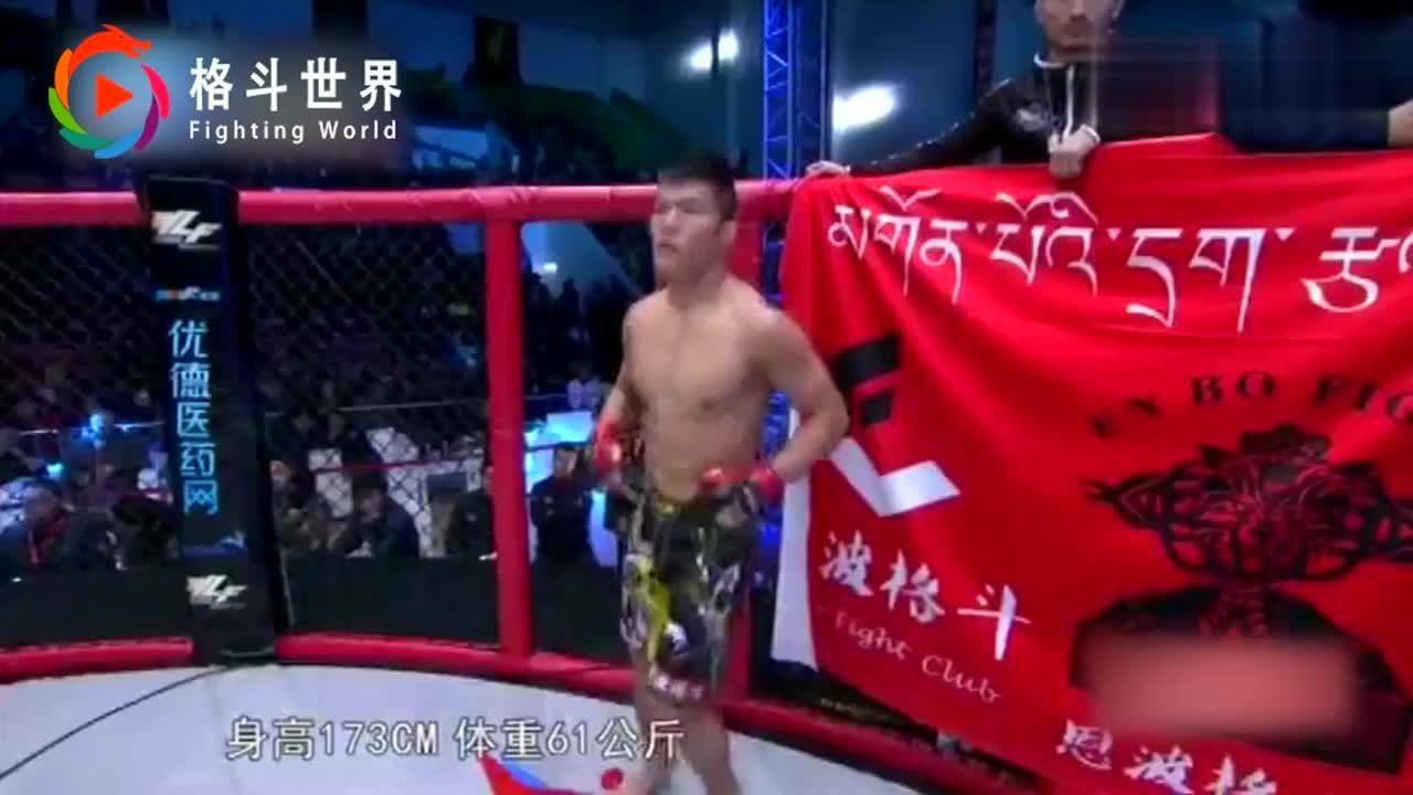 日本拳王想赢中国小伙的金腰带,被一拳打倒KO幸亏裁判及时阻拦