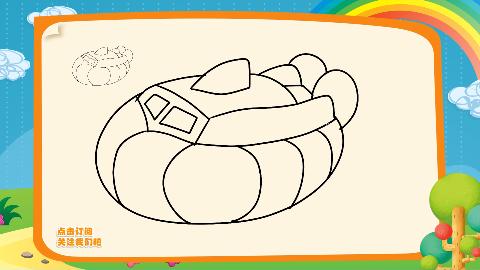 建军节简笔画教程如何画气垫船海知简笔画大全