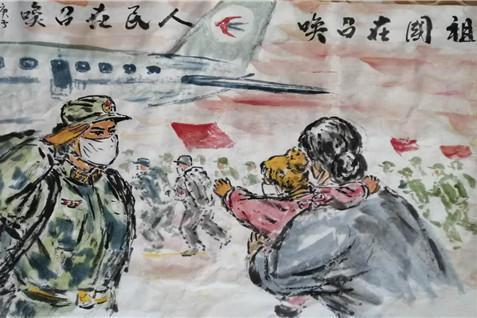 众志成城抗击疫情老年艺术家用书画作品助力打赢抗疫战 原创