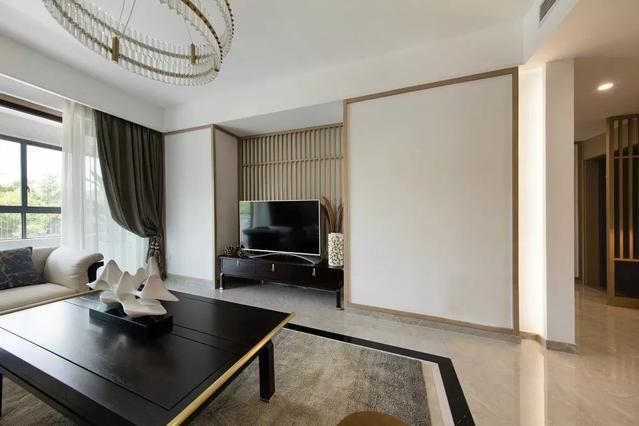 143㎡典雅新中式4室2厅,整体空间宽敞、色彩明亮