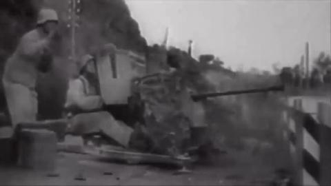 历史上难得一见的军事科技高射机枪实战录像