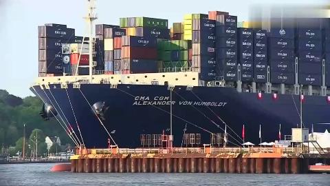 世界上最大的集装箱轮船看到它才知道自己多渺小