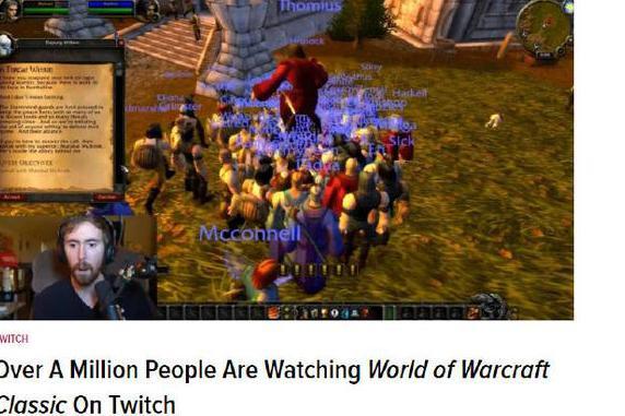 人山人海!《魔兽世界》怀旧服同时在线玩家超百万