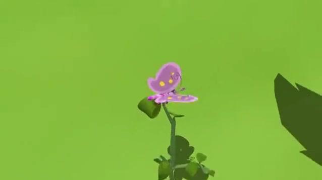 环保小卫士:欧力牛发现了一朵生病的小花。
