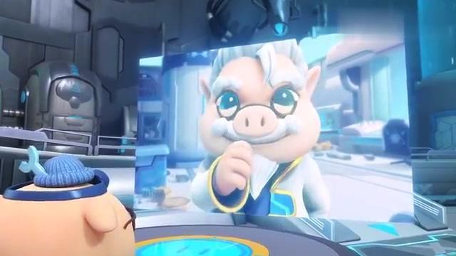 博士看猪布斯一次又一次的实验,经过次次失败,终于制造出阿五
