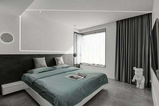 只用黑白灰三色进行装饰的新房三居室,简约、大方又时尚!