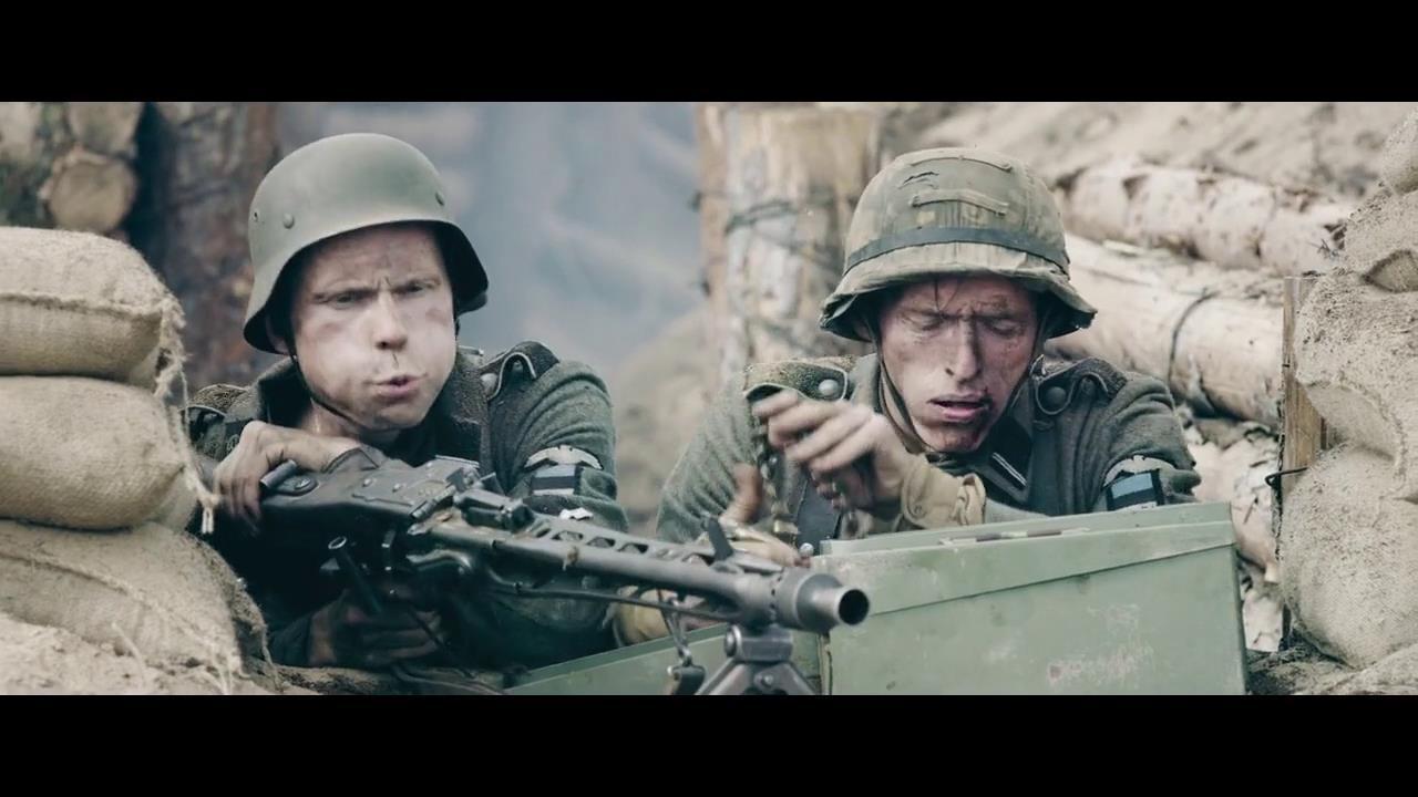 一群爱沙尼亚士兵,拼死抵抗苏军攻势