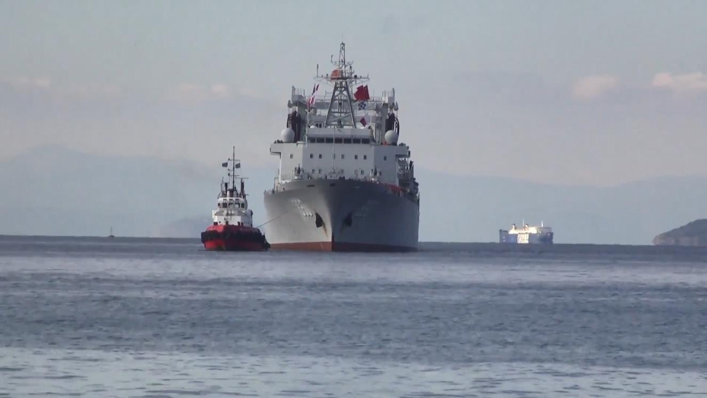 中国海军903A型综合补给舰,进入希腊比雷埃夫斯港!