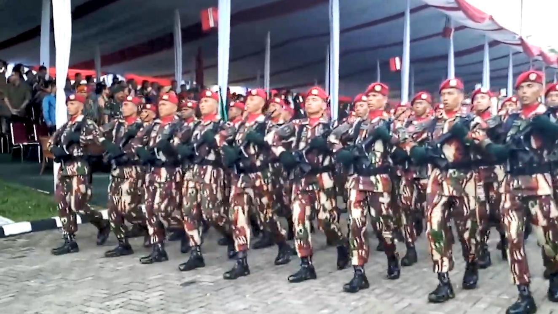 印度尼西亚阅兵,接受检阅的方队太随意了,士兵竟然有小动作!