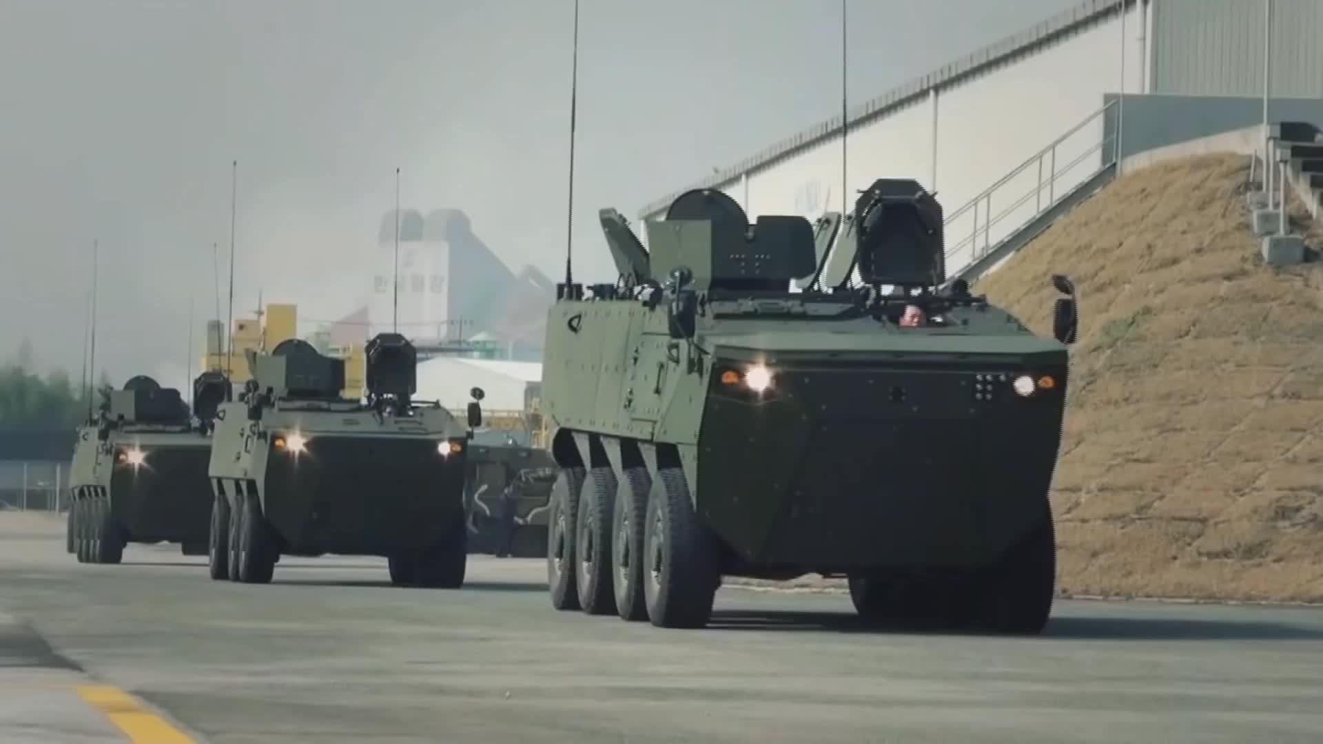 韩国两栖装甲运输车,轮胎气压控制系统很不错!