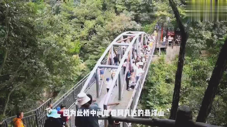 张家界有《阿凡达》电影里的悬浮山,还有天下第一桥,就在袁家界