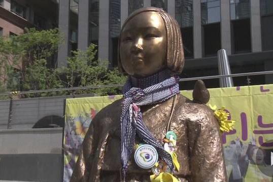 韩慰安妇受害者出席对日索赔庭审 哭诉受害经历