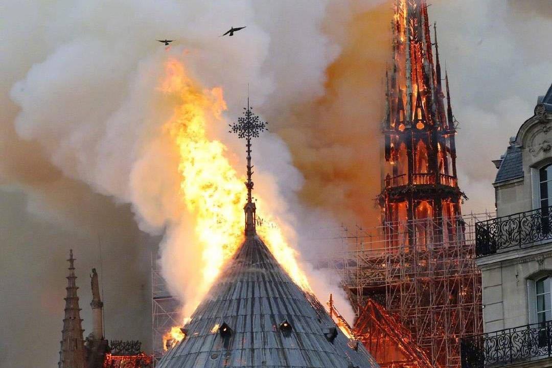 范冰冰好姐妹李玉导演亲见巴黎圣母院着火,心疼800年的历史被毁