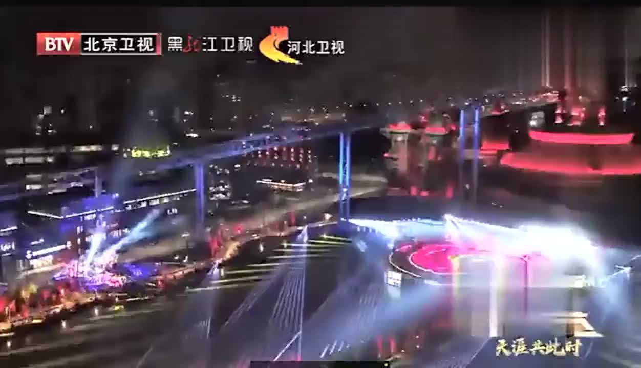 北京卫视跨年晚会腾格尔神曲串烧