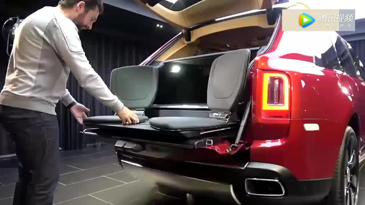 劳斯莱斯SUV坐在后备箱的休闲座椅后,宾利添越失去光彩