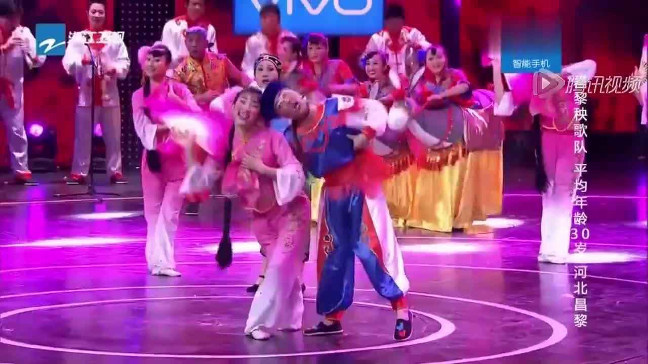 昌黎秧歌队表演节目简直太精彩了国立老师看后竖大拇指
