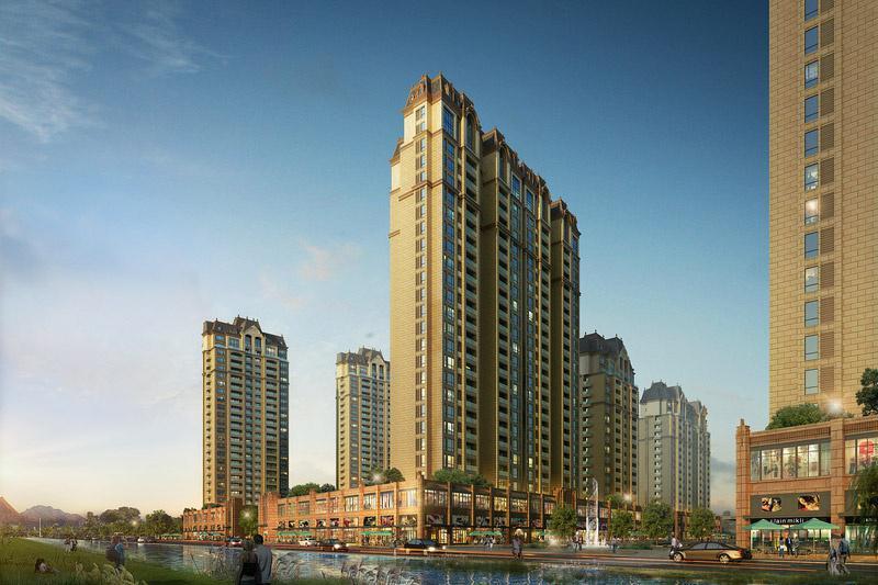 玫瑰花园商业住宅楼规划设计,广东省建科建筑设计院