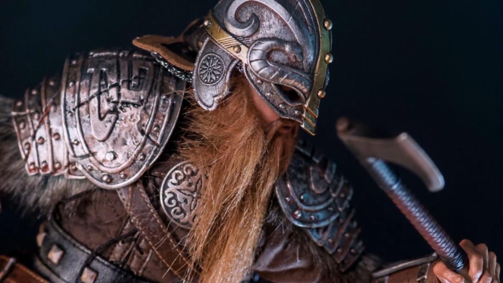 中世纪维京人模型,铠甲服饰真实展现北欧的异域风格!