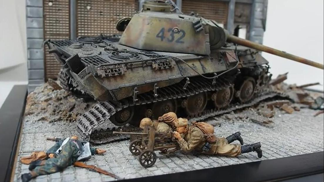 二战城市巷战模型,细节处理堪称大神,房屋士兵伤员太逼真了!