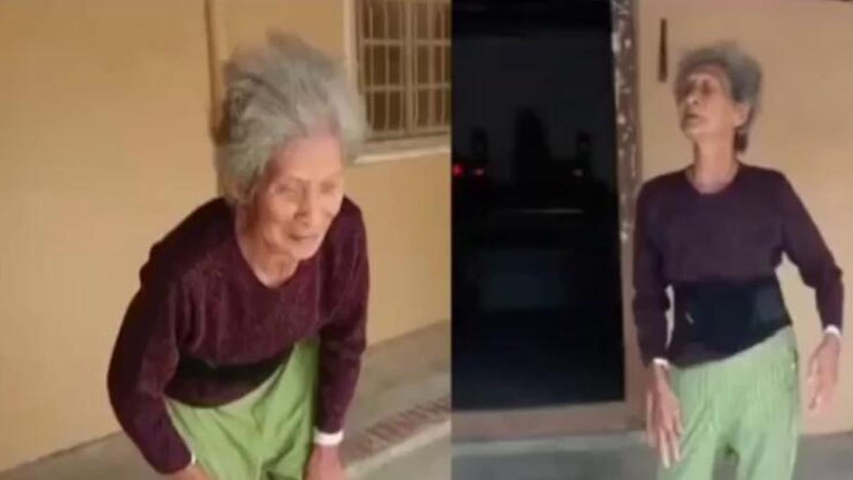 84岁老人后仰摔倒驼背痊癒 医生无法解释