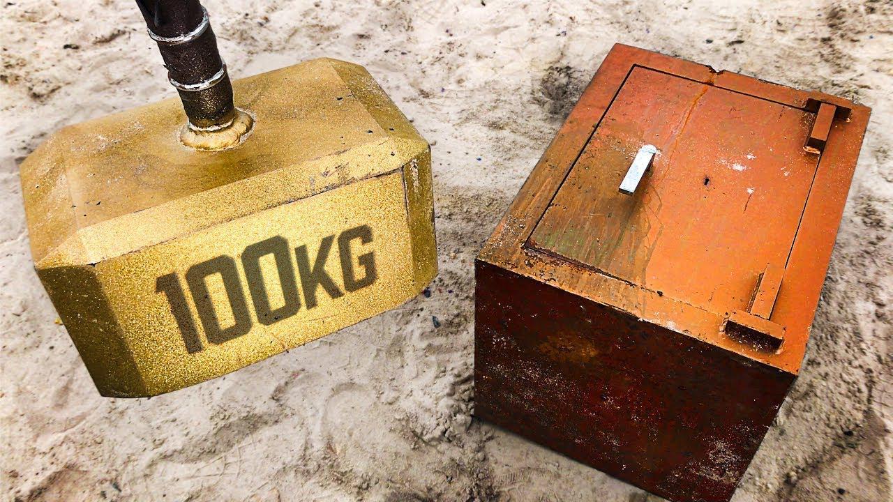 100公斤的雷神之锤能够破坏掉250公斤的保险箱吗?