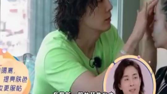 李承铉给老婆化妆,戚薇全程白眼不断,秒变女儿同款