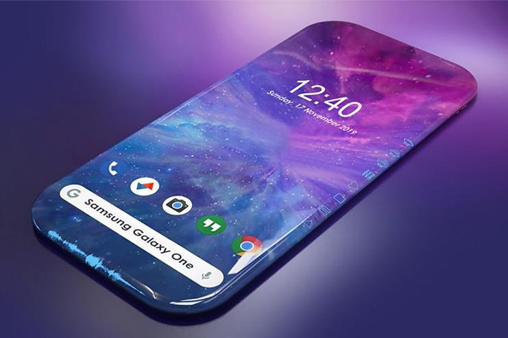 四曲面屏幕3D显示加侧边虚拟触控 三星Galaxy One手机外观曝光